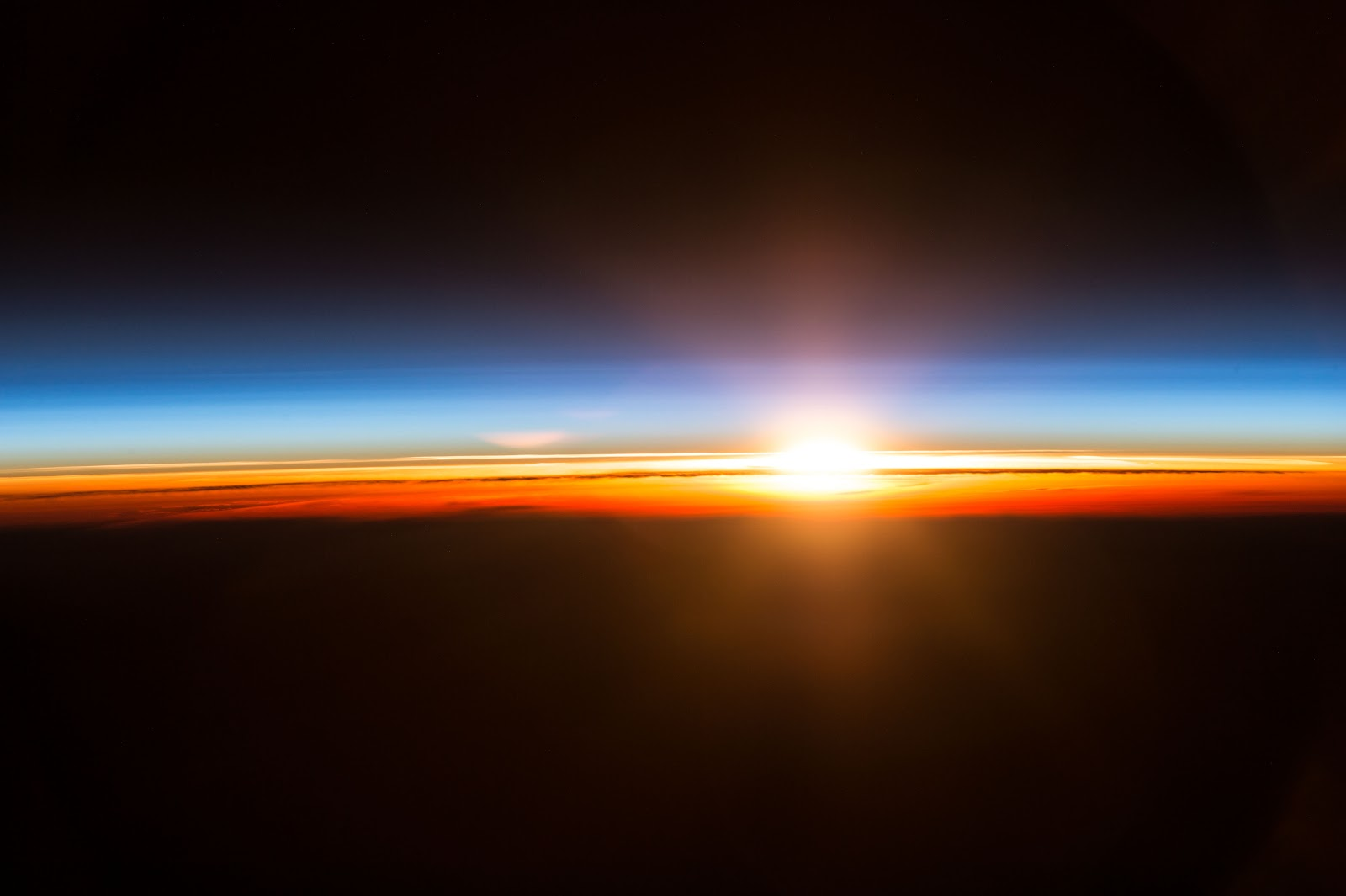 beautiful sunrise and space - photo #24