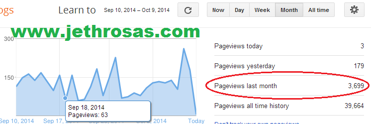 jethrosas.com Pageviews - September 2014