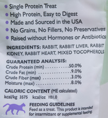 ingredients of natural rabbit cat treats