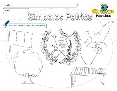 dibujos para colorear Guatemala