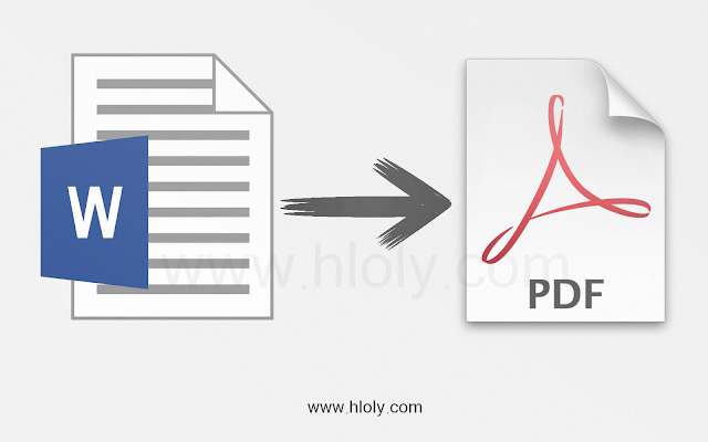 تحويل ملف الوورد word إلى ملف بي دي أف pdf بدون برامج