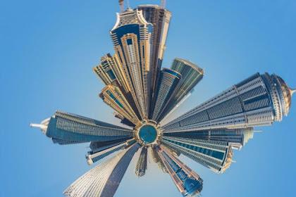 Tutorial Picsart - Cara Membuat Efek Kota Melingkar di Picsart