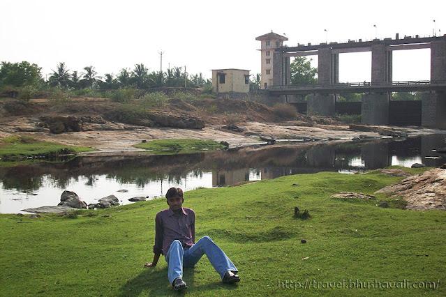 Noyyal River Dam near Muthur, Erode