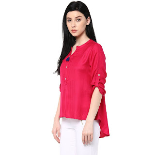 red branded shirts for women in india