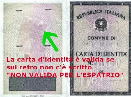 dni italiano papeles para trabajar en europa sin prenota online pasaporte europeo