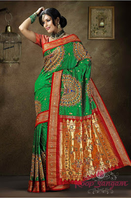 India-paithani-saree-designs-maharashtrian-blouse-patterns-11