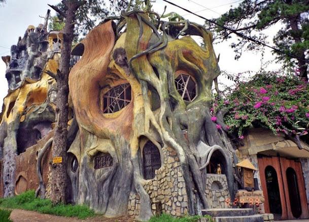 Ngôi nhà điên mô phỏng gốc cây cổ thụ kỳ quái