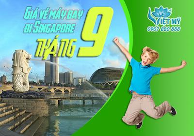 Giá vé máy bay đi Singapore tháng 9