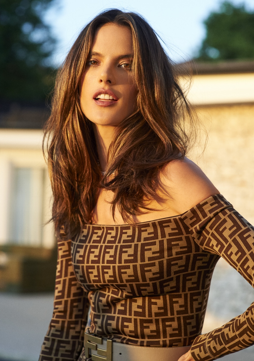 Alessandra Ambrosio wears high end styles for InStyle ... Alessandra Ambrosio