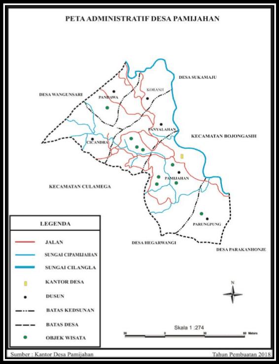 Peta Administratif Desa Pamijahan