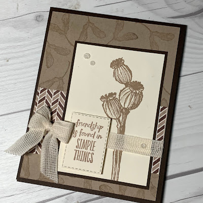 Crumb Cake and Very Vanilla Greeting Card using Enjoy the Moment Stamp Set