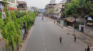 চট্টগ্রামে লকডাউনের ১ম দিন  সড়কে নেই গনপরিবহন