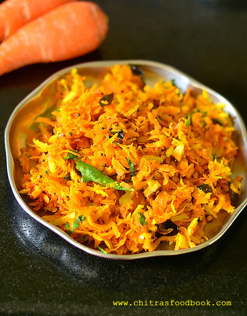 carrot palya recipe