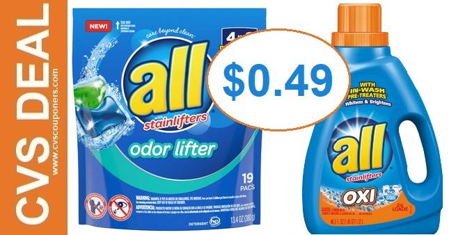 Cheap All Laundry Detergent CVS Deals