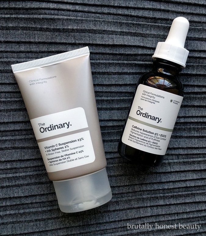 Review of The Ordinary Vitamin C Suspension 23% + HA Spheres 2% and The Ordinary Caffeine Solution 5% + EGCG