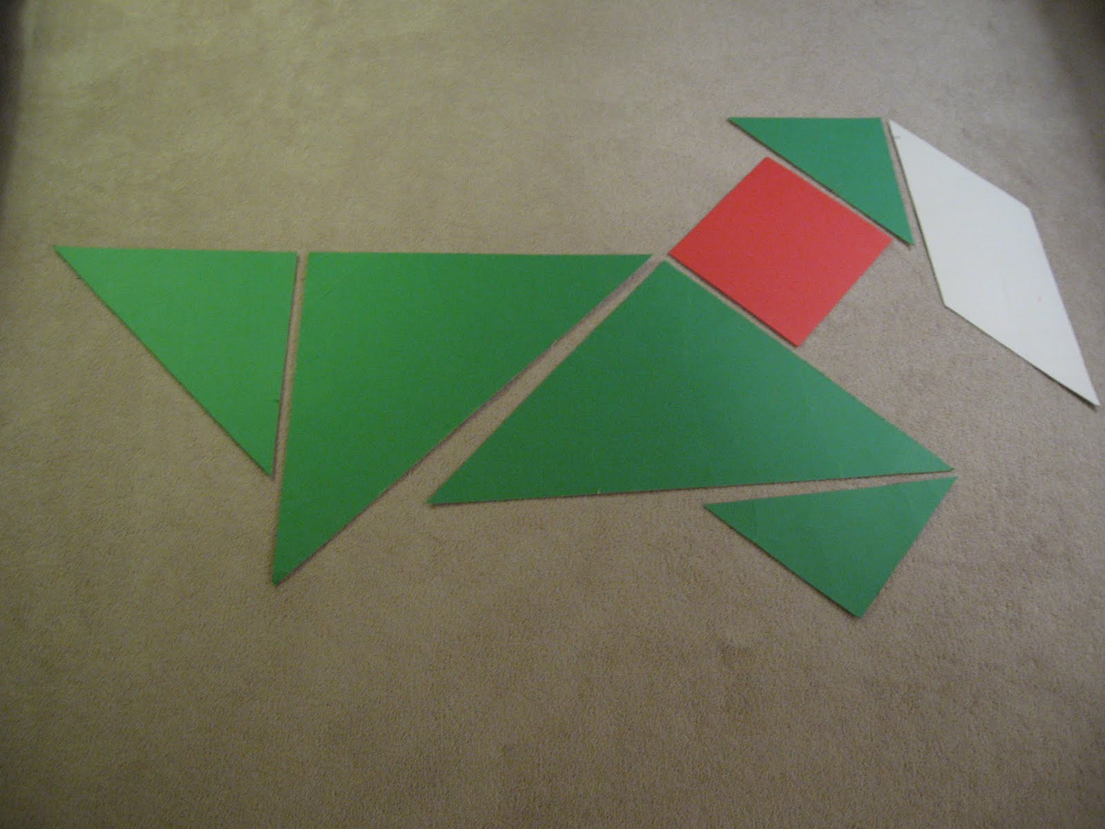 Almost Unschoolers: Christmas Tangrams