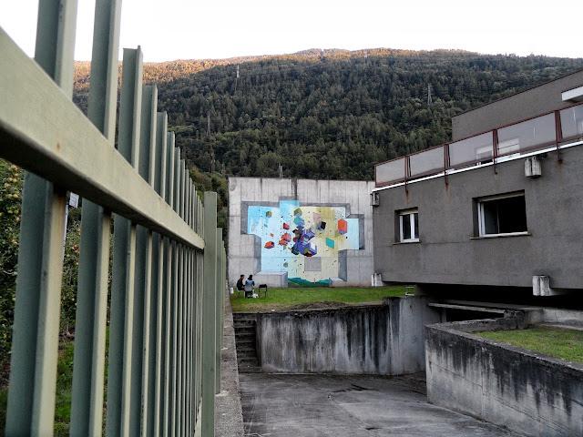 Abstract Street Art By Italian Artist Etnik In Tirano, Italy. 3