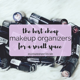 The top 5 work and professional makeup don't's with tips on how to fix them, plus 5 tips about how to organize your makeup. interview makeup tips. work makeup tips. professional makeup tips. corporate makeup tips. | brazenandbrunette.com