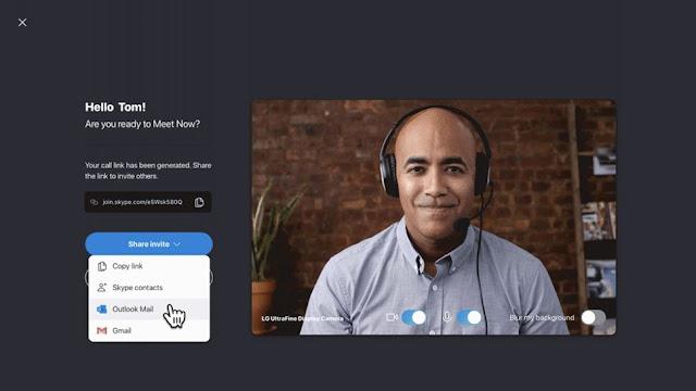 Meet Now Skype