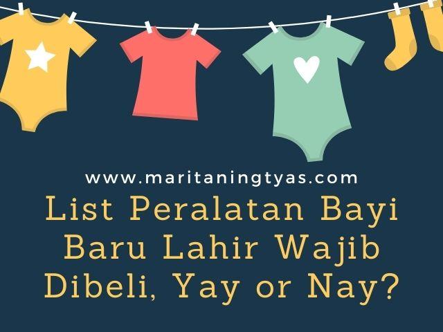 list peralatan bayi baru lahir