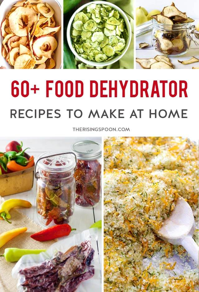 Want to start drying & preserving fresh foods using a dehydrator? Check out this round-up of 60+ dehydrator recipes for fruits, vegetables, herbs, proteins, snacks, meals & more! Don't own one yet? Many of these recipes work with a normal oven set at the lowest temperature (usually 170 F) with the door cracked open. Make a few of these to keep in your pantry or bring along on picnic, camping & backpacking trips.