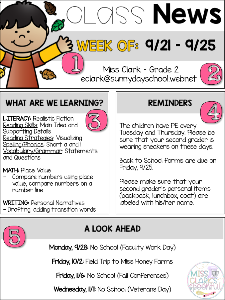 Here are the preschool newsletter templates that you can download and use for free. How To Create The Ultimate Classroom Newsletter Miss Clark S Spoonful