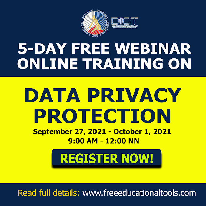 5-Day Training of Trainers on Data Privacy Protection | September 27-October 1, 2021 | Register Now