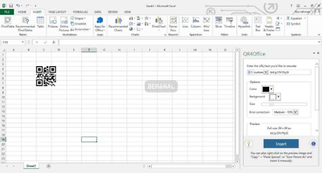 Cara Membuat QR Code di Excel 2013