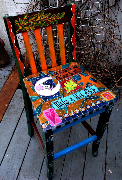 Hand Painted Chairs Designs