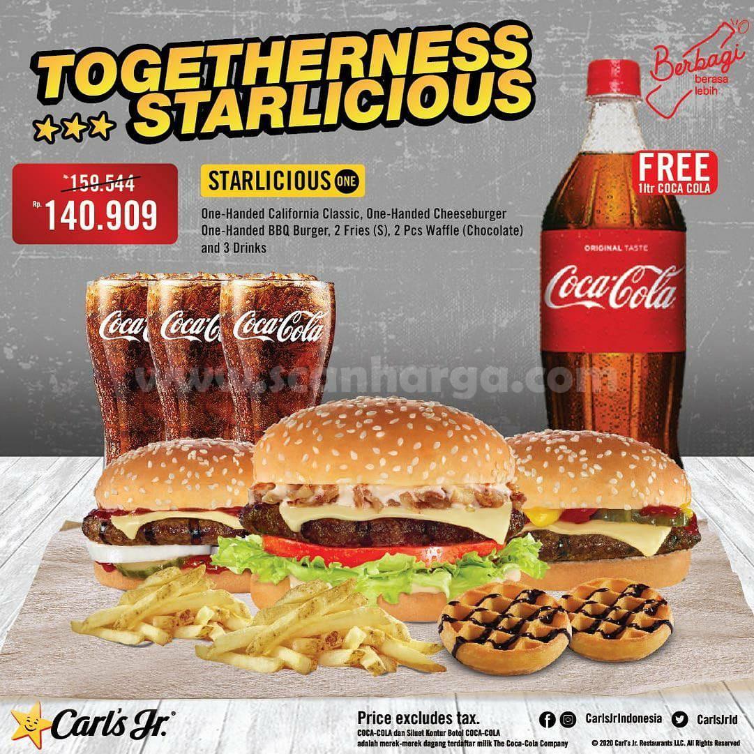 Carls Jr Promo Paket Starlicious + Gratis Coca Cola mulai dari Rp 140.909*
