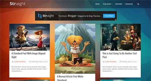 Straight Responsive Blogger Template