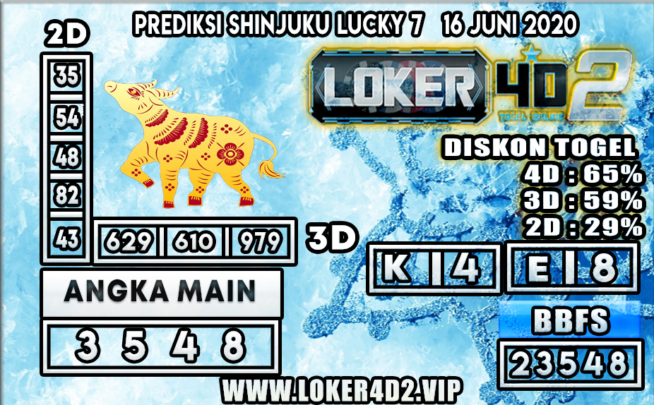 PREDIKSI TOGEL SHINJUKU LUCKY 7 LOKER4D2 16 JUNI 2020