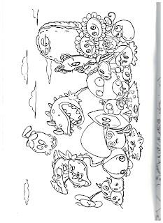 раскраска зомби против цветов