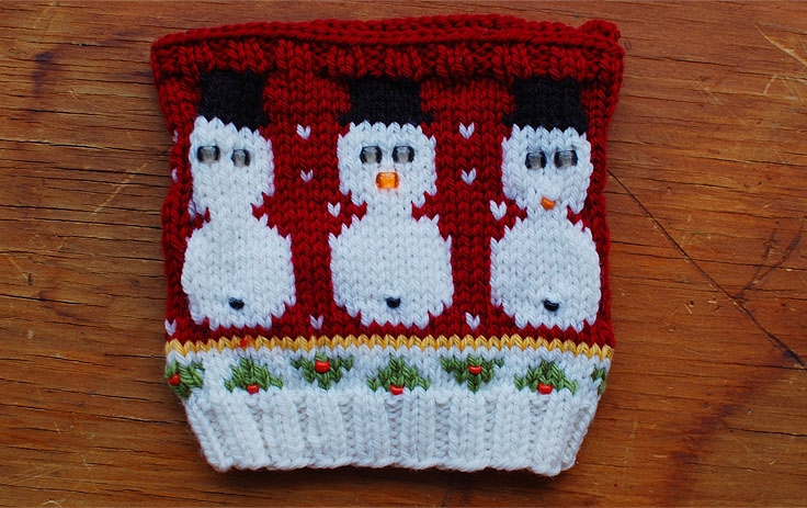This Gal Knows - Hand Knit Christmas Sweater Swatch