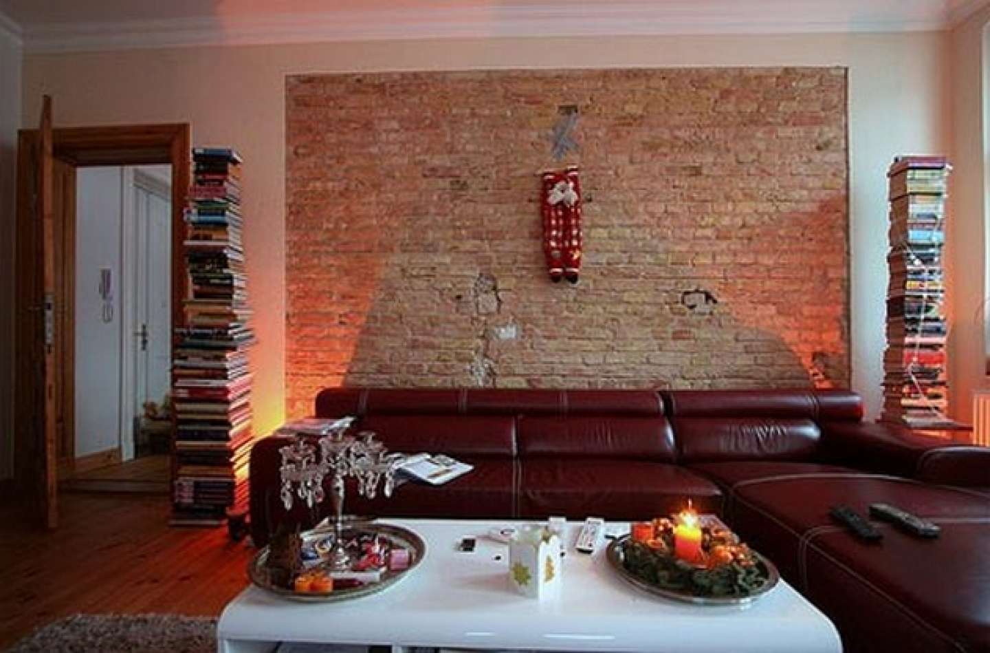 Brick laminate picture brick interior design ideas - Modern wall decor for living room ...