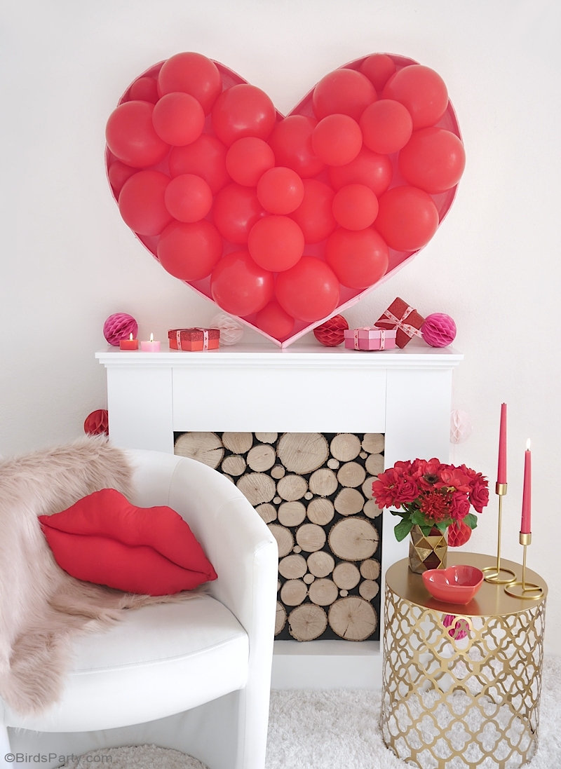 Balloon Heart Backdrop DIY 🎈💖