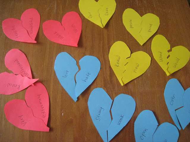 valentine learning idea