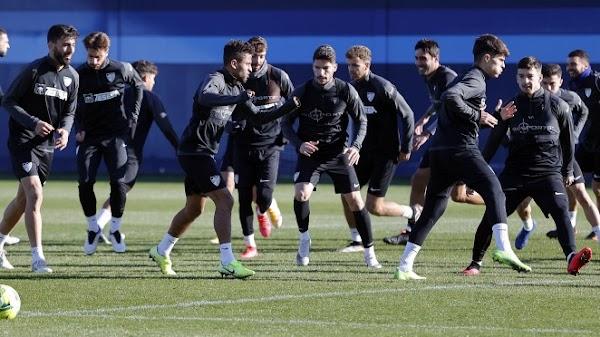 Málaga, último entrenamiento antes de viajar a Albacete