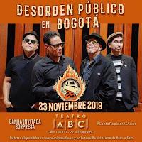 Concierto de Desorden Público en Bogotá