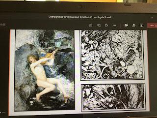 Två bilder av Näcken, en traditionell och så Henriks version