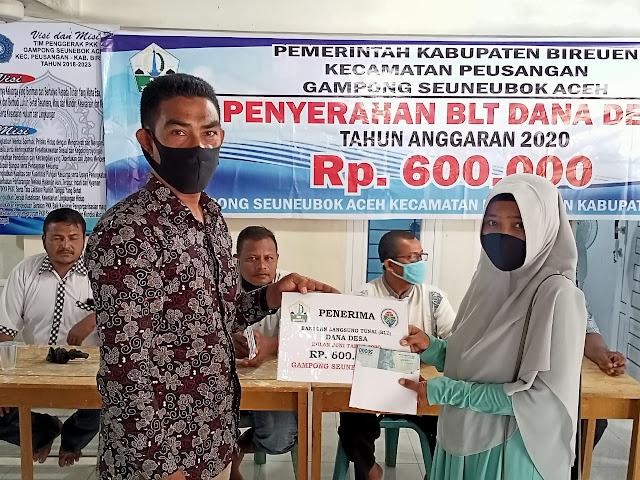 penyaluran BLT Gampong Senuebok Aceh