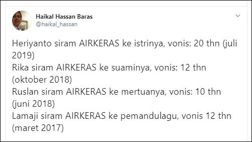 Lembaga Bantuan Hukum (LBH) Jakarta mempertanyakan hukuman bagi pelaku kasus penyiraman air keras kepada penyidik KPK Novel Baswedan