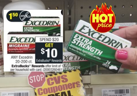 Excedrin CVS Couponers Deal 8/29-9/4