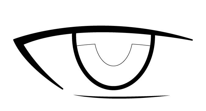 Anime mata bagian dalam pria anime