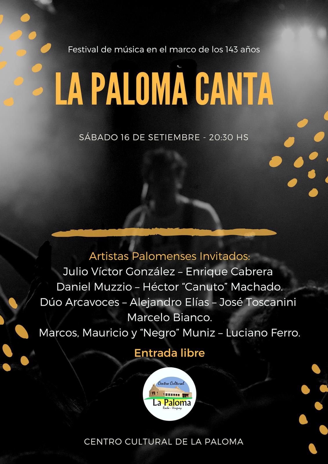 Centro Cultural La Paloma: Sábado 16 de Setiembre \