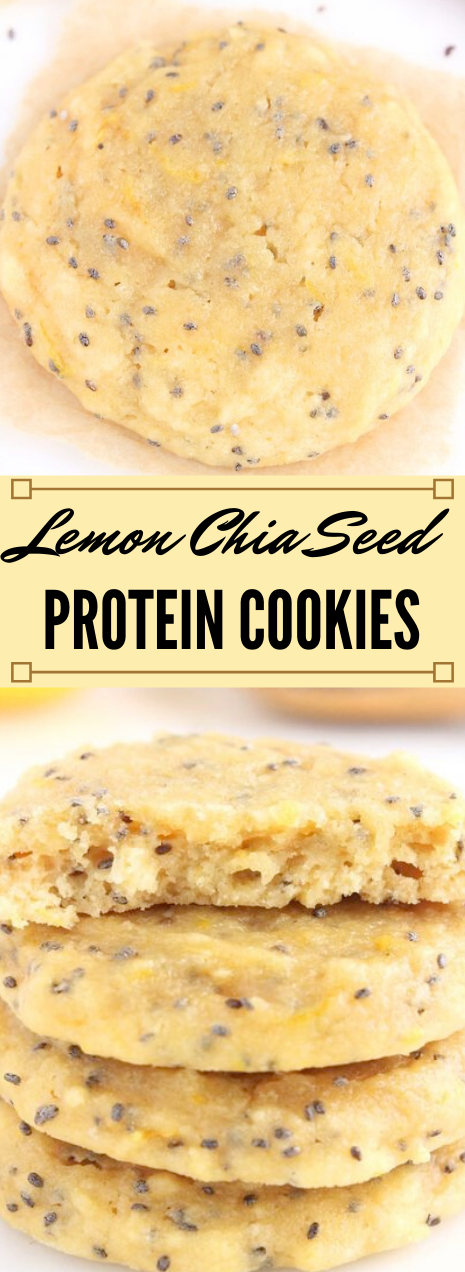 Lemon Chia Seed Protein Cookies #lemon #cookies #dessert #pumpkin #snack