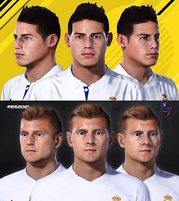 PES 2021 Faces James Rodriguez & Toni Kross by LR7