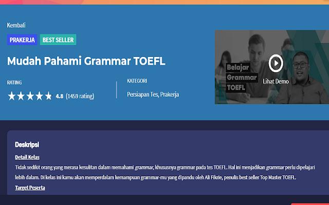 pahami grammar toefl