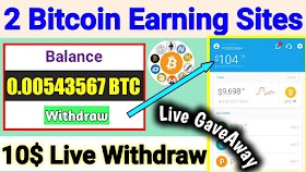 2 New Bitcoin earning sites, Double your money in 24 hours, New Bitcoin Mining site