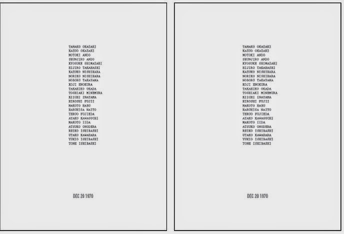 On Kawara - I Met The origin of the I Met series was On Kawarau0027s - business proposal document